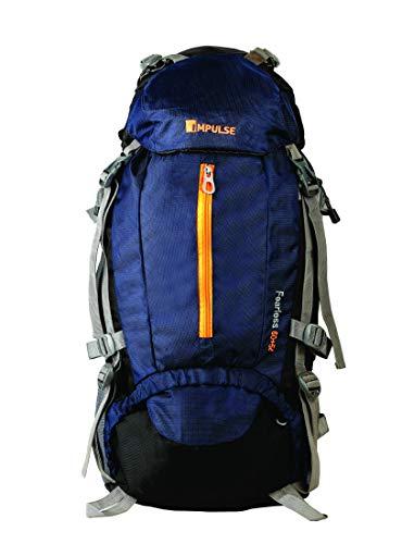 Impulse Inverse 65 L Water Resistant Rucksack Hiking Backpack/Bag for Trekking/Camping/Travel/Outdoor Sport( Navy Blue)