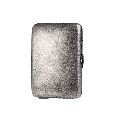 DJY-JY Zigaretten-Etui, 16 Sticks aus reinem Kupfer Zigarettenetui, antike Silberne Metall Retro kreative Persönlichkeit Zigarettenschachtel, männlich tragbare Zigarettenetui, das Beste