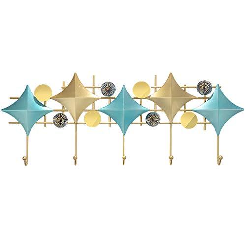 GYQWJPC Gancho de Ropa Abrigo montado en la Pared Puerta de la Puerta Hook Nordic Modern Creative Coat Hook Hanger de Pared (5 Ganchos) Ganchos de Acero para la Capa Colgante, Sombrero,