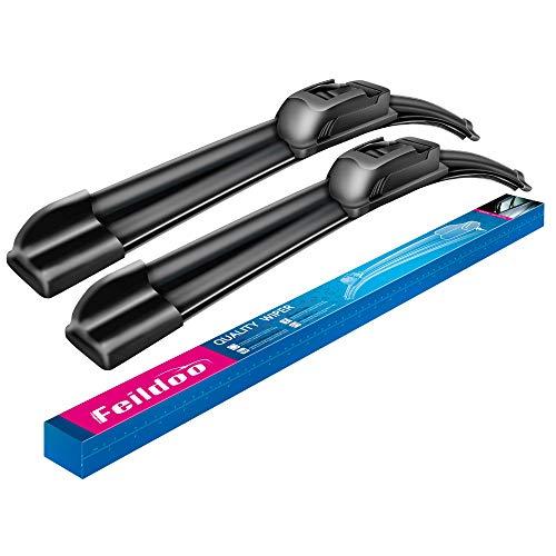 """Feildoo Windshield wiper blades, 22"""" + 22"""" Winter Summer Bracketless Beam Wiper Beam Wiper Blades(set of 2)"""