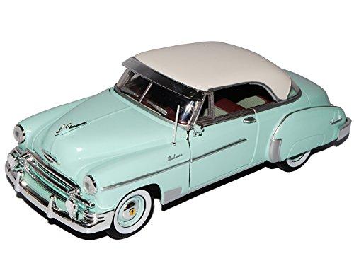 Motormax Chevrolet Chevy Bel Air Coupe Grün 1950 Oldtimer 1/24 Modell Auto mit individiuellem Wunschkennzeichen