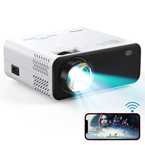 Projector, WiFi Mini Projector Portable, Samzuy 1080P Supported 6000L...