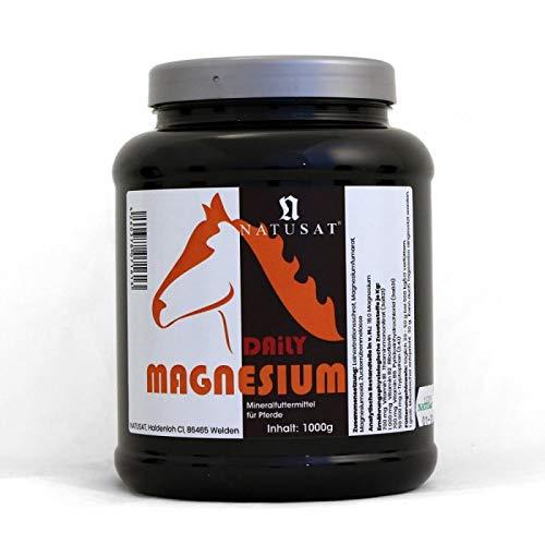 Natusat Magnesium Daily 1000 g | Pellets | Nervenstärke | Mineralfutter für Pferde