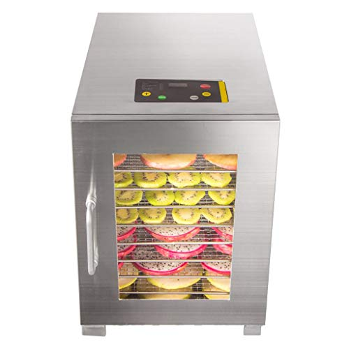 Lowest Prices! Premium Food Dehydrator, Fruit Vegetable Dried Fruit Machine Timing Temperature Contr...