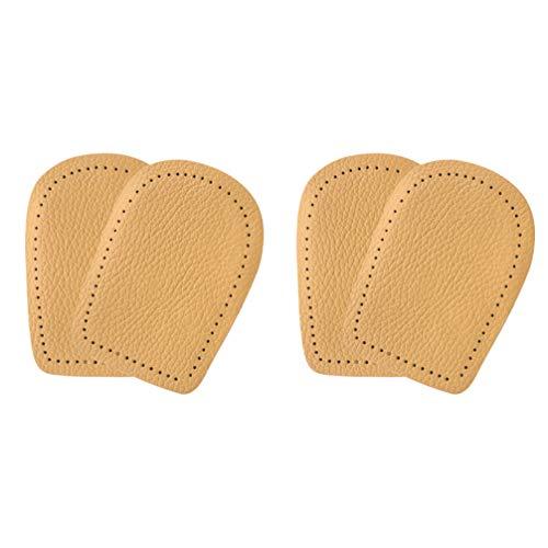 Holibanna 2 Paare Erhöhung Einlegesohlen Leder Fersenkissen Latex Fersenpolster Unsichtbar Fersensporn Einlagen Schuheinlagen für Frauen Männer Schuhe Fersenschale Fersenschutz