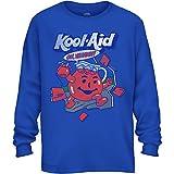 Kool-Aid unisex child Kool-aid Boys Kool-aid Man Happy Face Logo T-shirt T Shirt, Royal Blue, Medium US