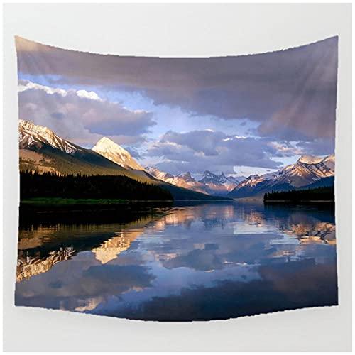 Tapiz by BD-Boombdl Vista al mar montañas y ríos arte decorativo para pared colcha de tela para colgar decoración del hogar 70.86'x90.55'Inch(180x230 Cm)