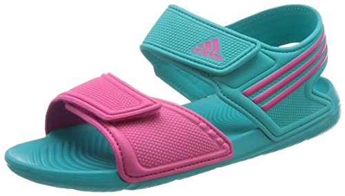 adidas Kinder Badelatschen Akwah 9 Sandale, grün, 4