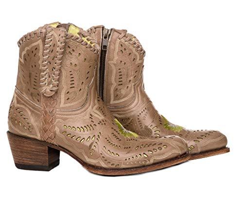 Sendra Boots Botín Western calados y Bordados 14200 Debora Olimpia CALADOS (36 EU, Beige)