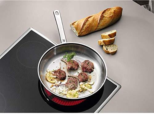 WMF Profi - Set de 3 sartenes 20, 24 y 28 cm, de acero Inoxidable, sin recubrimiento antiadherente para todo tipo de cocinas Incluido inducción