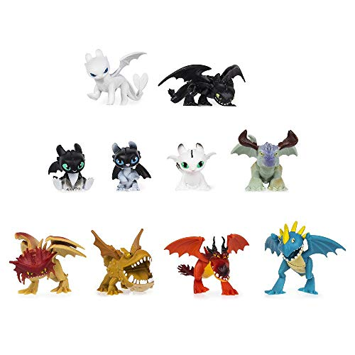 Dragons, Confezione Multipla con 10 Mystery Dragons, da Collezione, dai 4 Anni, 6055950