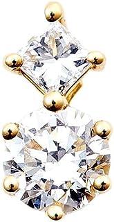 カナディアンダイヤモンド ペンダントヘッド 計0.13ctUP [K18YG] 専用ケース付