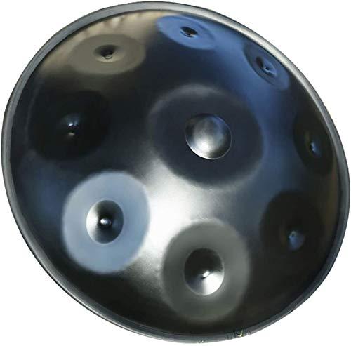 LLC- SUDA Happy Drums Steel, Profession Advanced Version Tambor de mano de acero en D menor (22.8' (58cm), 9 notas (D3 A3 Bb3 C D E F G A), fabricado en Estados Unidos Auténtico HandPan