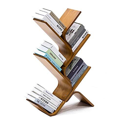 Libreria ad Angolo Albero Book Shelf, bambù Librerie e scaffali, Bookshelf scaffalatura di immagazzinaggio dell'esposizione Rack for Libri, Riviste, More, Save Spazio for casa, ufficio, camera dei bam