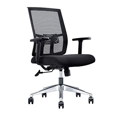 SVITA Premium Bürostuhl schwarz ergonomisch höhenverstellbar Schreibtischstuhl Drehstuhl Kippfunktion Armlehnen Lendenwirbelstütze