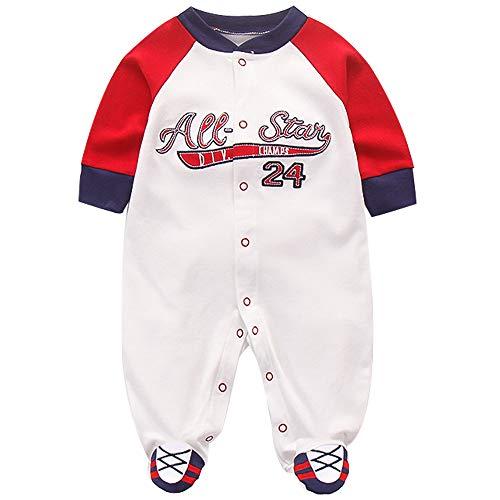 Baby Overalls Jungen Strampler Langarm Jumpsuit Baumwolle Spielanzug Outfits 3-6 Monate