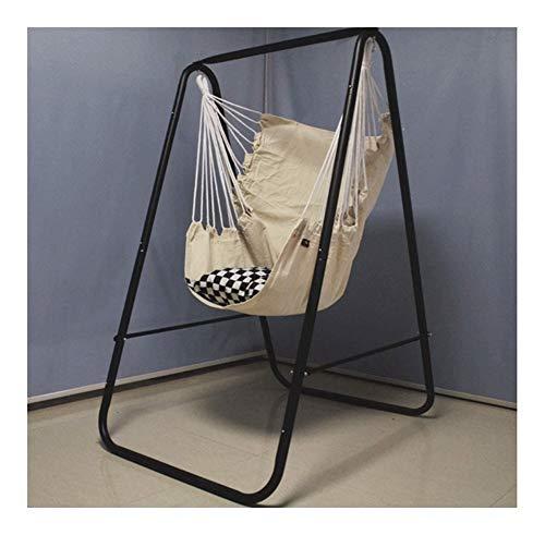 genneric Outdoor Hammock Chair Swinging Rope Hammock Chair, Household Lazy Cradle Balcony Basket Hammock Shelf for Garden 85x85x160cm