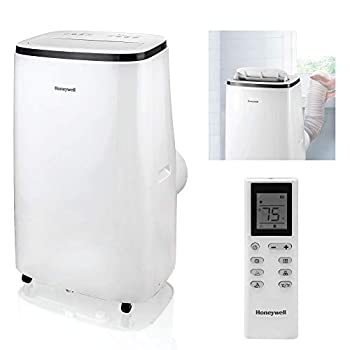 Honeywell 15,000 BTU Portable Air Conditioner with Dehumidifier & Fan Cools Rooms Up To 775 Sq Ft with Remote Control HJ5CESWK0 White/Black