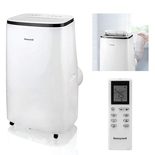 Honeywell 15,000 BTU Portable Air Conditioner with Dehumidifier & Fan Cools Rooms Up To 775 Sq. Ft. with Remote Control, HJ5CESWK0, White/Black