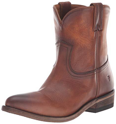 Frye Women's Billy Short Western Boot, Cognac Washed Oiled Vintage, 9