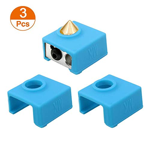 Zeelo 3D Printer Heater Block Silicone Cover MK7//MK8//MK9 Hotend Compatible with Creality CR-10,10S,S4,S5,Ender 3 ANET A8 Pack of 4 Black