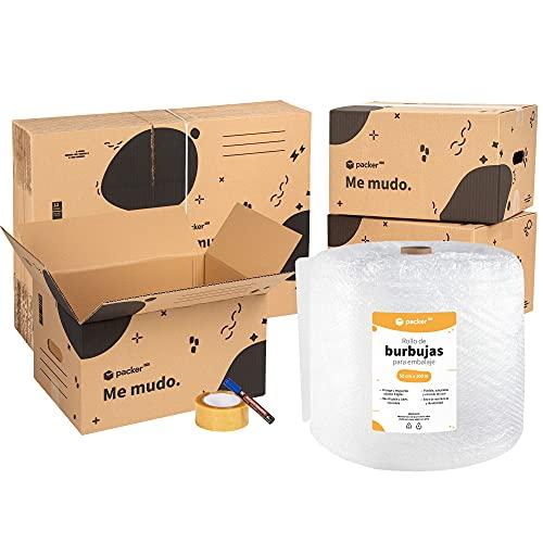 packer PRO Pack Mudanza con 5 Cajas Carton Mudanza 600x400x400mm, 10 Cajas...
