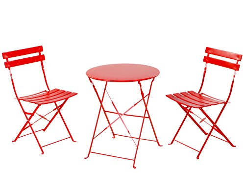 Grand patio Premium Steel Patio Bistro Set, Folding Outdoor Patio Furniture Sets