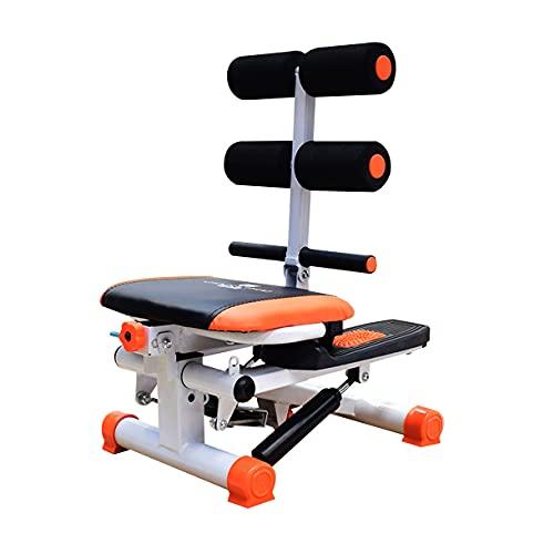 TATANE Inicio Paso a Paso para Fitness, Ejercitador de Pedal de Brazos y piernas Elíptico Entrenador de Cross Balancearse Arriba Abajo Gimnasio Abdomen de Abdominales Deporte Capacitación,Naranja
