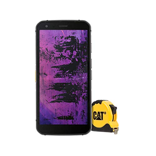 CAT S62 Pro Robustes Outdoor Smartphone mit FLIR Wärmebildkamera (5.7 Zoll FHD+ Display, 128 GB Speicher, 6 GB RAM, Dual-SIM, IP68, Android 10) inkl. CAT Maßband [Exklusiv bei Amazon] schwarz