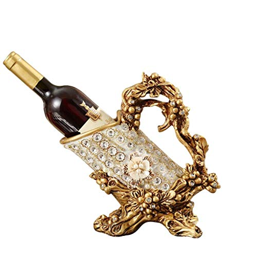Estante de Vino de Europa, Adorno Creativo Retro para el hogar, Estante para Botellas de Vino, decoración para Sala de Estar, Regalo de Boda
