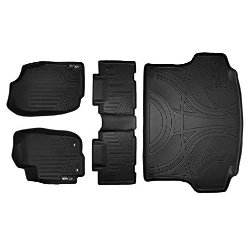 MAX LINER A0418//B0418//D0418 Black Custom Fit Floor Mats 2 Rows and Cargo Liner Trunk Set 2019-2020 Toyota RAV4-No Hybrid Models
