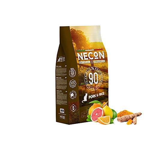 NECON PET FOOD Natural Wellness Adulto Maiale & Riso 1,5 Kg, Cibo per Gatti adulti, Crocchette low grain ricche Vitamine, Qualità Super Premium, Made in Italy