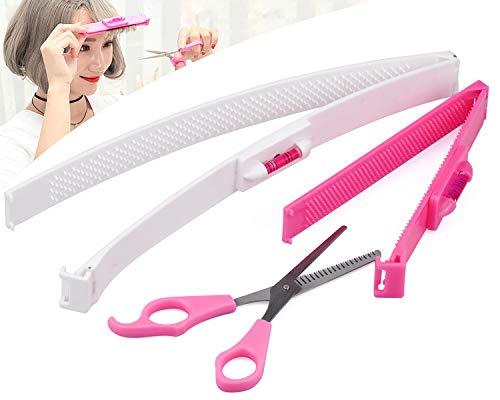cococity 2 Stück Haarschneide Hilfe Clip, Frisurenhilfe Schere Haarschneidewerkzeug DIY Haarschnitt Klammern Styling Ruler für Salon Friseur oder zu Haus