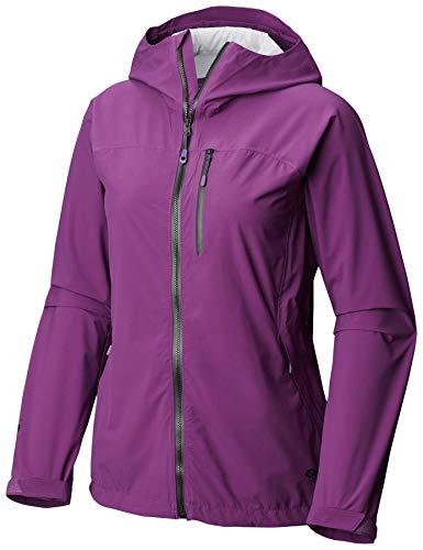 Mountain Hardwear Damen Stretch Ozonic Jacke Wasserdicht Atmungsaktiv für Wandern, Rucksackreisen und Alltag - Cosmos Purple - Small