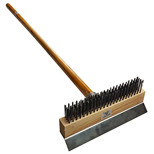 BarBits Pizza Oven Brush With Handle Commercial Pizza Oven Cleaner, Oven Sweep, Oven Broom