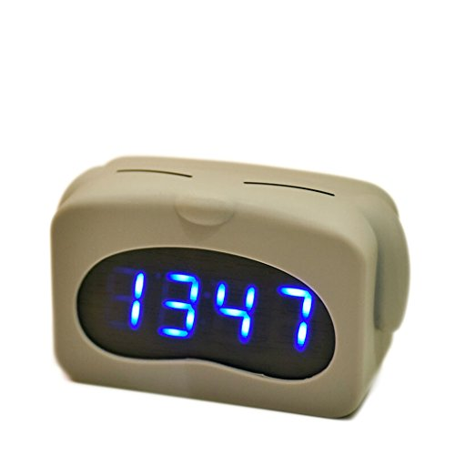 XXW wekker Muto nachtlampje nachtkastje student mode, creatief eenvoudig slaapkamer led-display met stembediening wekker timer