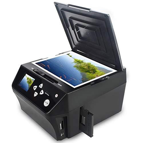DIGITNOW! Multi Scanner für Dias, Negative und Fotos mit 22 Megapixel,Konvertieren von 35mm, 110 Film Negative/Folien & Fotos/Dokument, mit Bildbearbeitungssoftware Kostenlose 8 GB SD-Karte