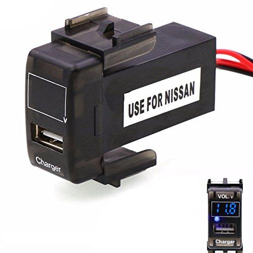 PolarLander 5V 2.1A et Moniteur de Batterie de mètre de Tension Chargeur de Voiture de Prise d'interface d'USB de
