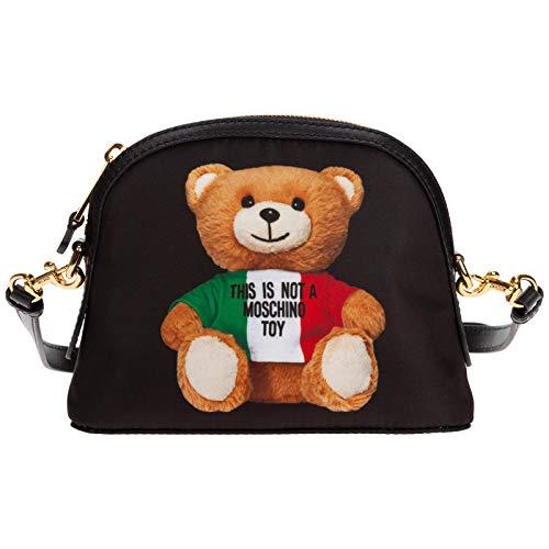 Moschino damen teddy bear borsa a tracolla black