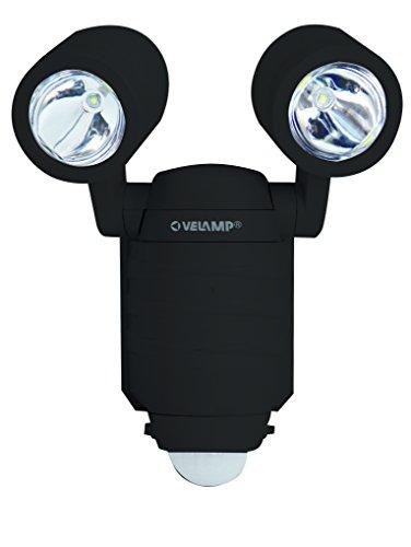 Velamp IS352 Frog-Projecteur d'Extérieur LED à Piles: s'installe de partout car 100% sans fils Avec détecteur de mouvement. 450 lumen, Plastique, 25 W, Noir