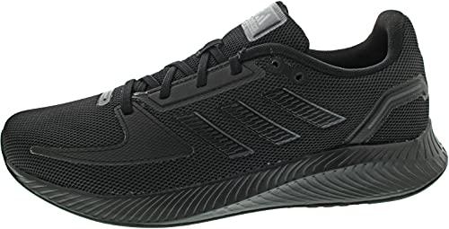 adidas RUNFALCON 2.0, Zapatillas de Running Hombre, NEGBÁS/NEGBÁS/GRISEI, 44 EU