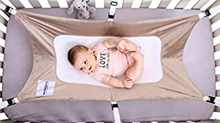 Quality Safe Baby Hammock (36 inches X 22 inches) for Crib with 6 Strong Straps and Metal Buckles (4) Fits Most Cribs. Mimics Womb Newborn Bassinet, Perfect for Travel and Baby Shower Gift