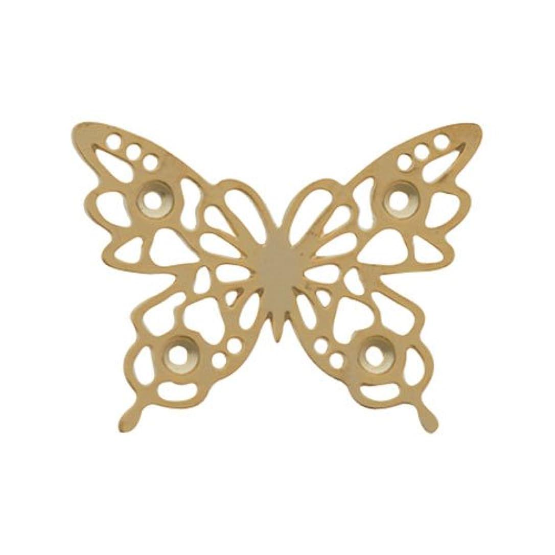 蒸留成長にもかかわらずリトルプリティー ネイルアートパーツ チョウレースM ゴールド 10個