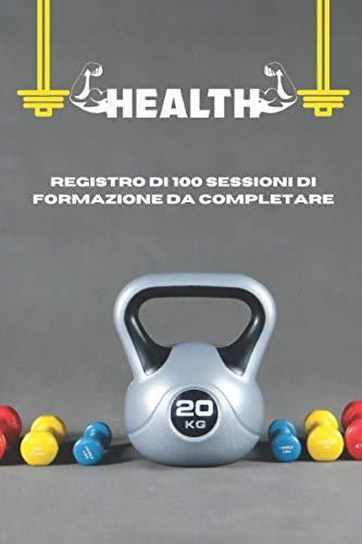 health: fitness as sport, Libro di 100 pagine di attività da compilare in Conforama 6 x 9 pollici per una facile memorizzazione