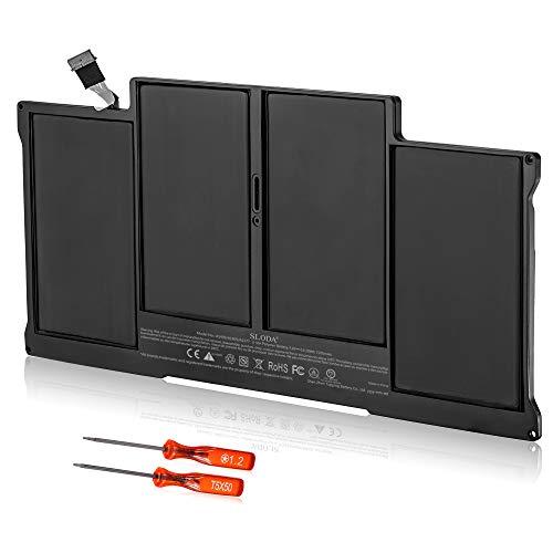 SLODA Batteria di Ricambio per MacBook Air 13' A1377 A1405 A1496 A1369 A1466 (2017 2015 2014 2013 2012 2011 2010 Anni)[Li-Polymer 7.4V 7200mAh]