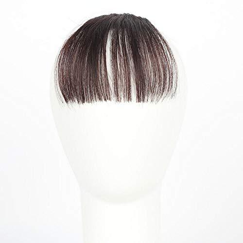 Kuyoly Flequillos falsos extensiones de flecos falsos para niñas clip en flequillo flequillo aspecto natural sintético pelo plano franja
