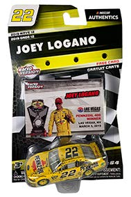 NASCAR Authentics Joey Logano #22 Diecast Car 1/64 Scale - 2019 Wave 12 with Free Card - Collectible