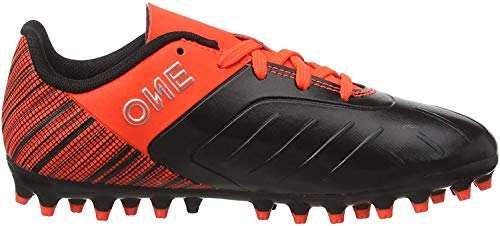 PUMA One 5.4 MG Jr, Botas de fútbol Unisex Niños, Negro Black Nrgy Red Aged Silver, 37 EU