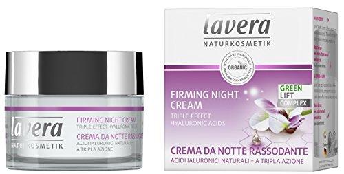 lavera Crema nocturna Facial - ácido hialurónico - vegano ✔ cuidado facial biológico ✔ cosméticos naturales 100% certificados - 50 ml