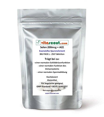 Selen/Selenium 200 mcg & ACE - 250 Tabletten - PN: 021211